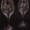 boros poharak ón címkével - szőlőfürttel