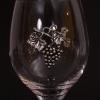 szőlőfürtös óncímke a poháron