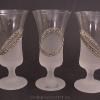Jagermeisteres poharak kézzel festett mintával B