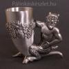 Különleges pálinkás pohár ördög szoborral