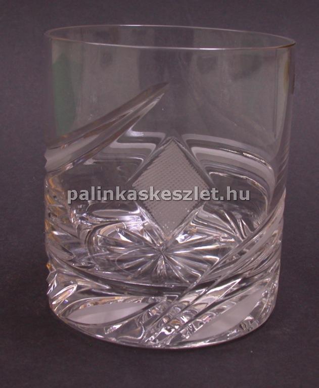 Póker mintás kristály pohár - káró