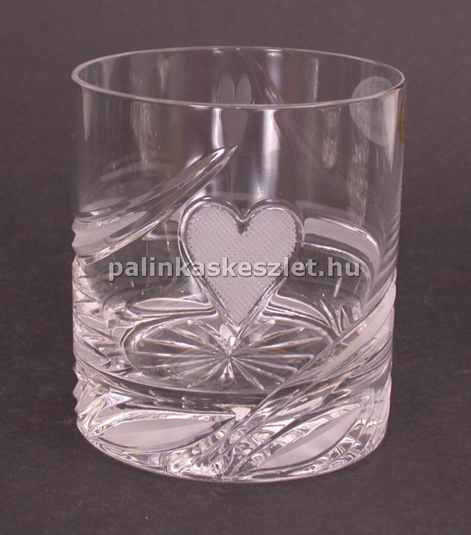 Póker mintás kristály pohár - kőr