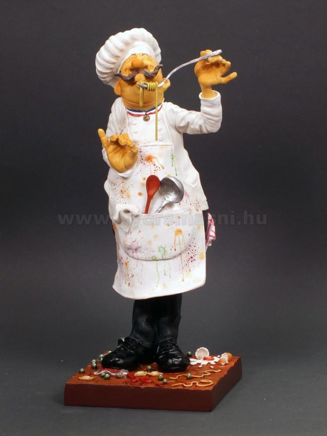 Szakács karikatúra szobor