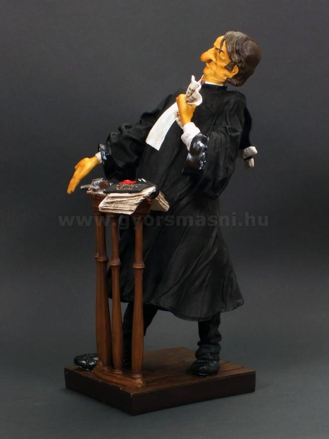Ügyvéd karikatúra szobor