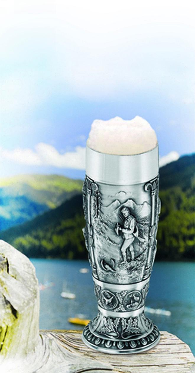 Díszes Ón sörös pohár - Artina