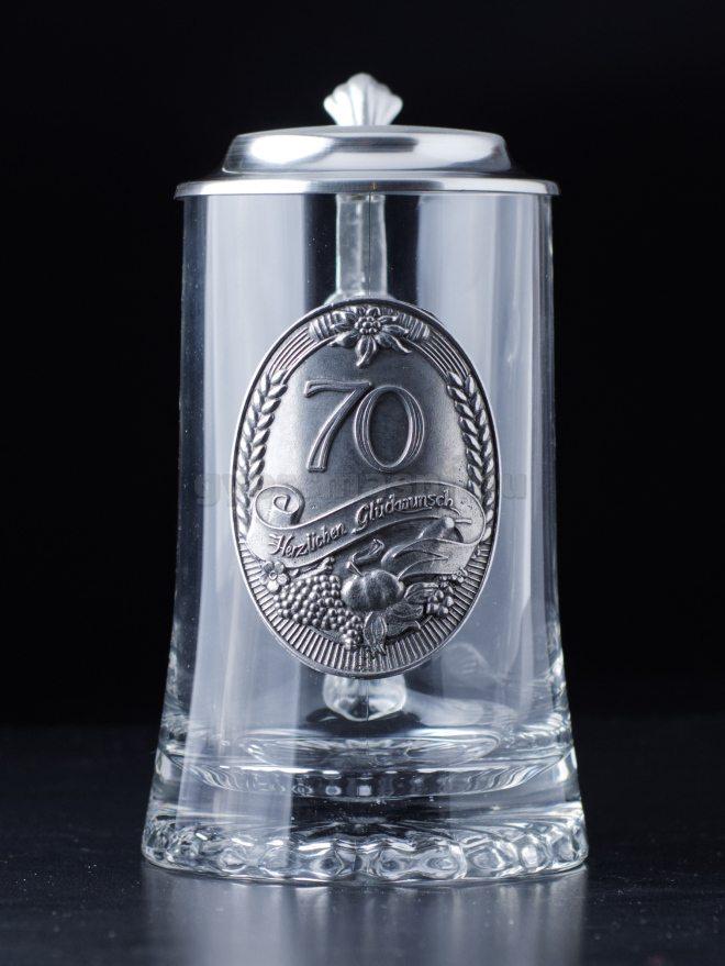 Fedeles Sörös korsó - 70 évszámmal
